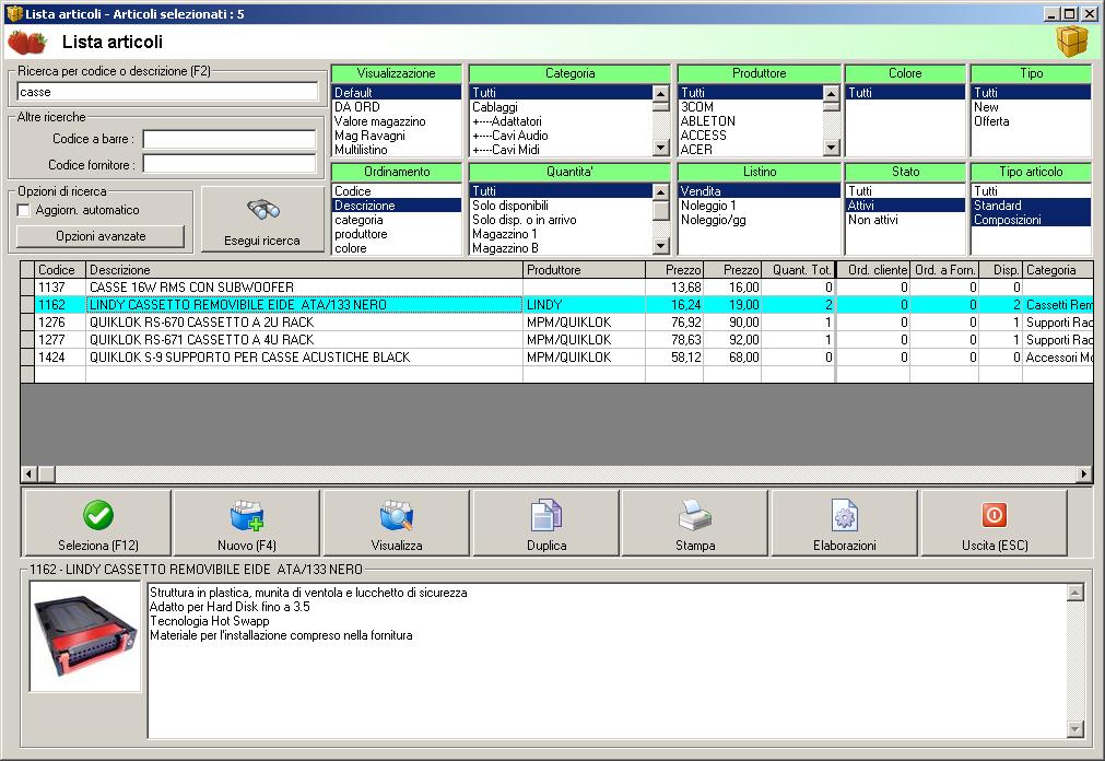 Gestione magazzino free per mac for Software di piano architettonico