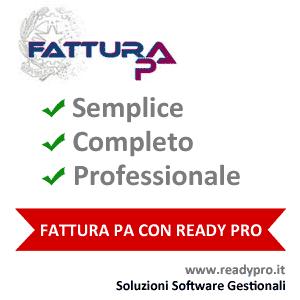 Ready Pro Software Fatturazione PA